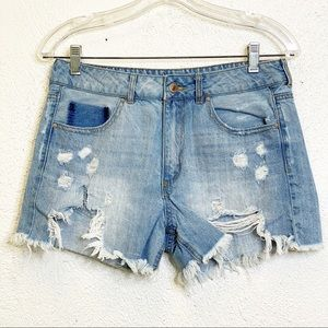 Forever 21 Distressed Shorts Size 28